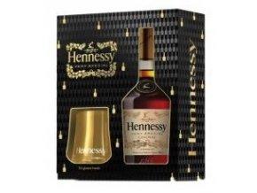 Hennessy V.S., Festive Box 2016 se dvěma skleničkami, 40%, 0,7l
