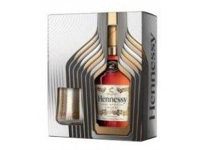 Hennessy V.S., Festive Box 2017 se dvěma skleničkami, 40%, 0,7l