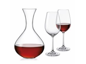 Sada sklenic a karafa Viola wine set, Crystalex, 3ks