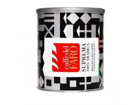 Mletá káva CAFFE DEL FARO - Supreme 100% arabika, plech, 250g