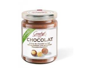 Mléčný čokoládový krém s praženými makadamiovými oříšky, sklo, 250g