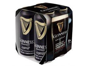 Guinness Stout Draught plech, 4x0,44l