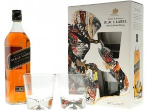 Johnnie Walker Black Label + 2 skleničky, Gift Box, 40%, 0,7l2