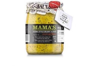 Mama's Zelený Ajvar Home Made Mild Mamas, 550g