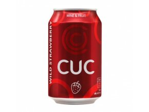 CUC wine & fruit - wild strawberry, 4,5%, 0,33l