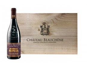 Premier Terroir 2016, Côtes du Rhône, Chateau Beauchene, dřevená bedna, 6x0,75l1