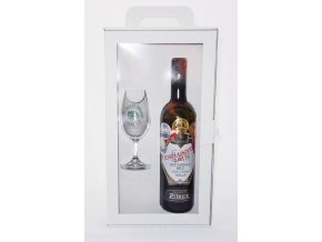 Dárková krabička na víno + 1 sklenička, Žůrek