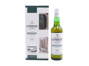 Laphroaig Quarter Cask + sklenička, Gift Box, 48%, 0,7l