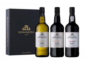 Romaneira Dárková sada 3 portských vín, 3x0,75l
