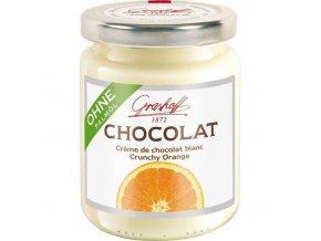 Grashoff Bílý čokoládový krém s křupavým pomerančem, sklo, 250g