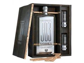 Squadron 303 vodka, dárková kazeta + 2 skleničky, 40%, 0,7l