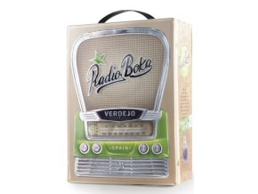 radio boka white bib front view