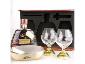 Ron Zacapa Centenario XO, Old Edition + 2 sklenice, dřevěný box, 40%, 0,7l