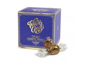 Willie's Cacao Pralinky Willie's Caramel Pearls mléčné se solí a karamelem, 150g
