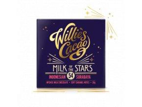 Willie's Cacao Čokoláda Willie's mléčná MILK OF THE STARS, Indonesian Surubaya 54%, 50g