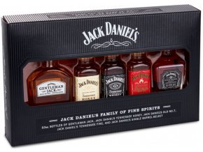 Jack Daniel´s Family mini set, 39%, 5x0,05l