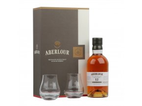 Aberlour 12 YO Non Chill Filtered + 2 skleničky, Gift box, 48%, 0,7l