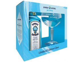Bombay Sapphire Gin + sklenička, Gift Box, 40%, 0,7l