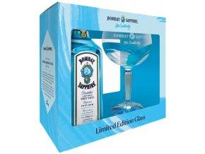 Bombay Sapphire Gin + sklenička, Gift Box 2019, 40%, 0,7l