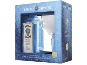 Bombay Sapphire Gin + sklenička, Gift Box 2018, 40%, 0,7l