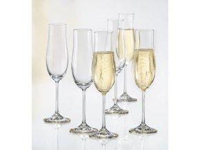Sklenice na šumivé víno Attimo, Crystalex, 180ml, 6ks 1