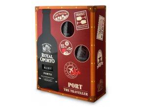 Royal Oporto Ruby dárkové balení se skleničkami, 0,75l
