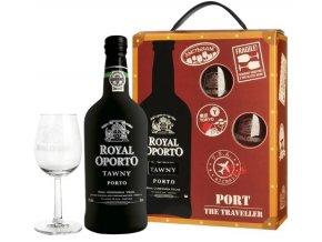 Royal Oporto Tawny Traveller box + 2 skleničky, 0,75l