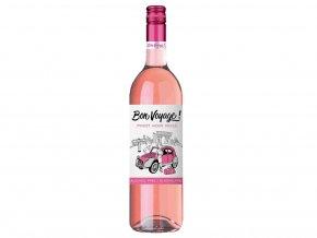 Bon Voyage Pinot Noir Rosé, nealko, 0,75l