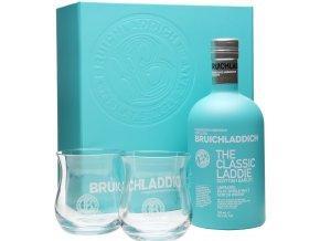 Bruichladdich Scottish Barley The Classic Laddie + 2 skleničky, 50%, 0,7l