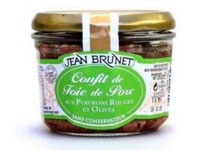 Jean Brunet Confit z vepřových jater s paprikou a olivami, 180g