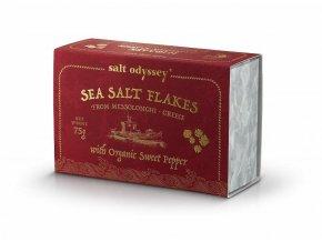 SALT ODYSSEY BIO Mořská sůl ve vločkách SLADKÁ PAPRIKA, 75g