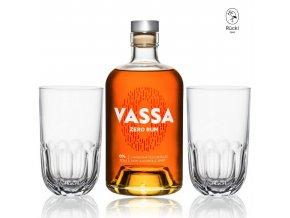 Vassa Zero Rum + 2 sklenice RÜCKL