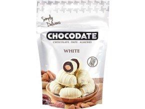 Datle s mandlí v bílé čokoládě, 100g