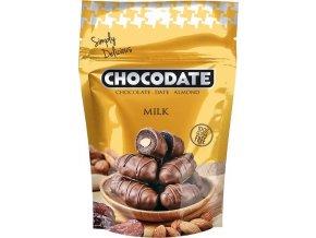 Datle s mandlí v mléčné čokoládě, 100g
