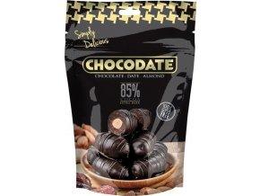 Datle s mandlí v extra hořké čokoládě, 100g