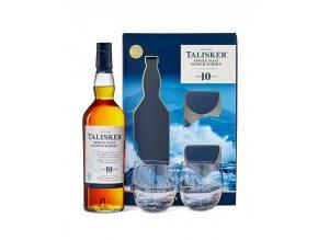 Talisker 10 YO + 2 sklenice, Gift Box, 45,8%, 0,7l1
