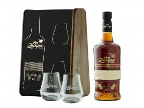 Zacapa23 glasses and bottle