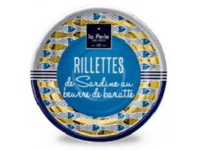 La Perle Rillety ze sardinek v oleji, 80g
