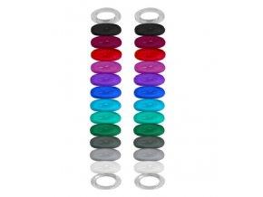 Vinturi Rozpoznávací gumičky na sklenice, 24ks