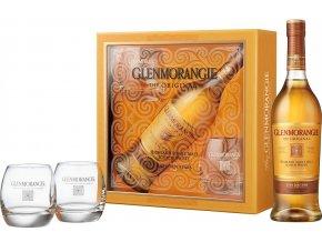 Glenmorangie 10 YO + 2 skleničky, Gift Box, 40%, 0,7l