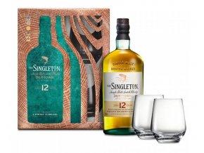 Singleton of Dufftown 12 YO + 2 skleničky, Gift Box, 40%, 0,7l