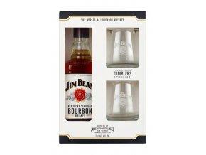 Jim Beam WHITE + 2 skleničky, Gift box, 40%, 0,7l