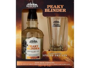 Peaky Blinder spiced gin + sklenice, Gift Box, 40%, 0,7l