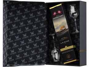 A.H.Riise Royal Navy + 2 skleničky, Gift Box, 40%, 0,7l