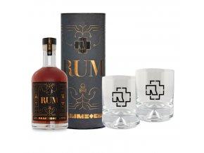 Rammstein rum + 2 originální skleničky, 40%, 0,7l
