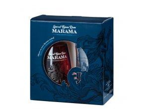 Marama Spiced Fijian Rum s pohárom 07l 40 Fidži