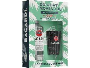 Bacardi Carta Blanca + svítící pohárek, Gift box, 37,5%, 0,7l