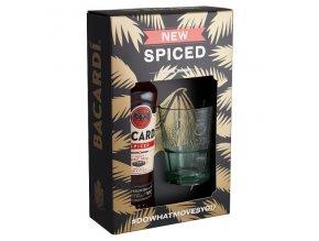 Bacardi Spiced + 1 sklenice, Gift box, 35%, 0,7l