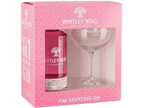 Whitley Neill Pink Grapefruit gin + sklenička, Gift Box, 43%, 0,7l5