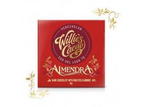Willie's Cacao Čokoláda Willie's Almendra hořká s mandlí 70%, 50g